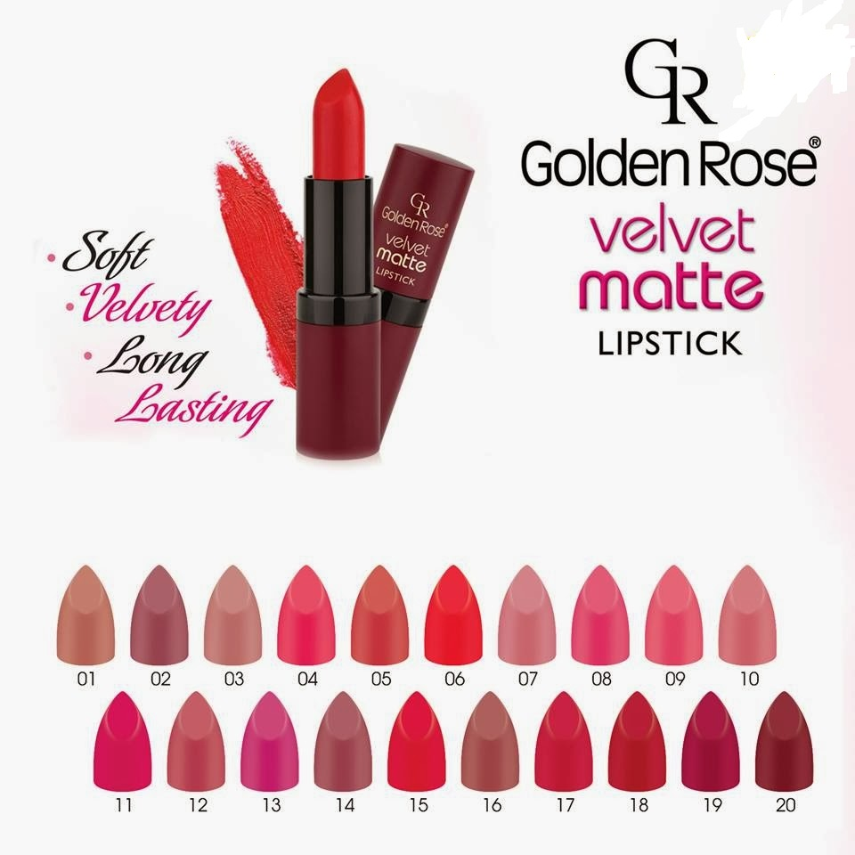 Son Golden Rose velvet matte lipstick 4.2g